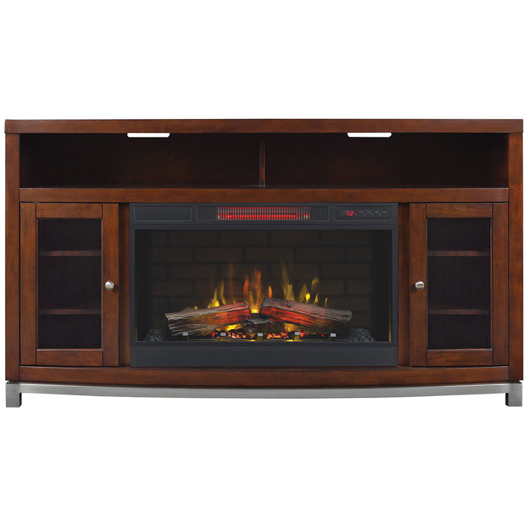 Media Mantle With 32 Electric Fireplace for TVs up to 70
