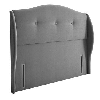 Silentnight Camden Slate Grey Fabric Full Height Headboard in 3 Sizes