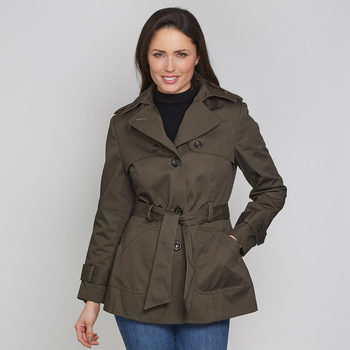 David Barry Women's 100% Cotton Belted Trench Jacket in 4 Sizes and 5 Colours