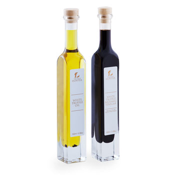 Truffle Hunter White Truffle Oil & White Truffle Balsamic Vinegar Selection, 2 x 100ml