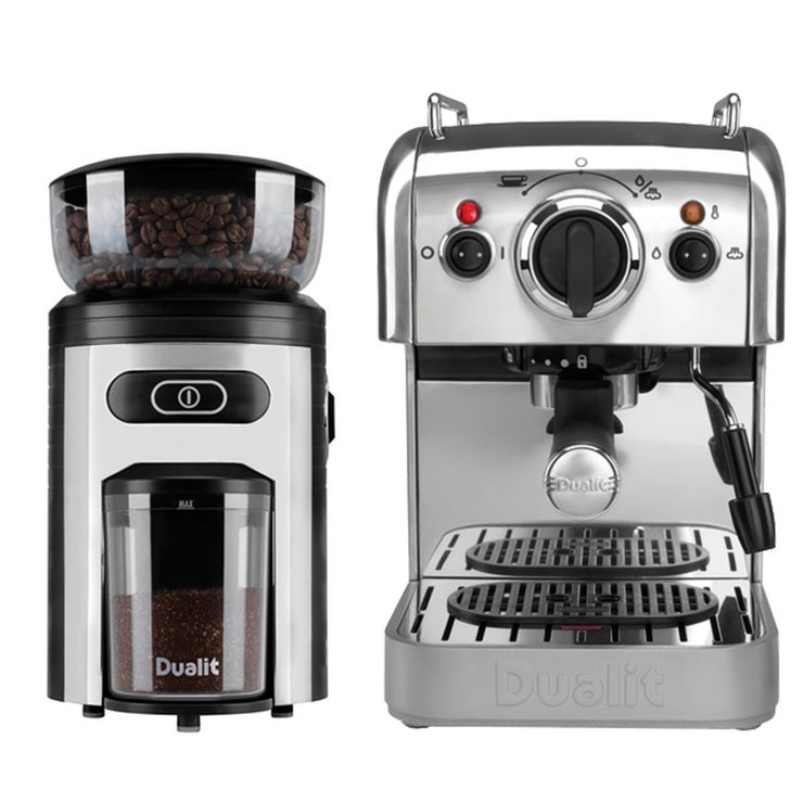 dualit dcm2x coffee machine and coffee grinder set costco uk. Black Bedroom Furniture Sets. Home Design Ideas