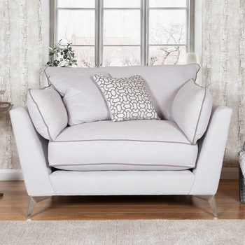 Roko Cosmo Silver Fabric Snuggler Chair