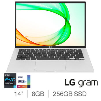 LG Gram, Intel Core i5, 8GB RAM, 256GB SSD, 14 Inch Ultra-Lightweight Laptop, 14Z90P-K.AA53A1