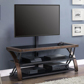 Bayside Furnishings Burkedale  3-in-1 TV Stand for TVs Up to 65""