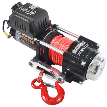 Warrior Ninja 3500 Synthetic Rope Electric Winch  - Model 35SPA12
