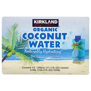 Kirkland Signature Organic Coconut Water, 12 x 330ml