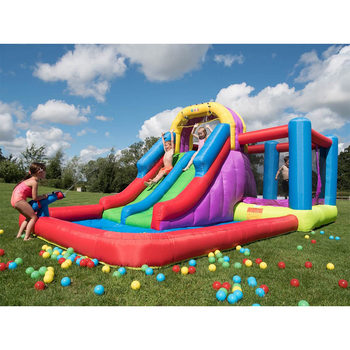 "BeBop 7ft 9"" Total Wipeout Bouncy Castle and Water Slide with 200 Play Balls (3-10 Years)"