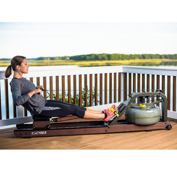 Installed Cybex Hydro Rowing Machine with Heart Rate Receiver
