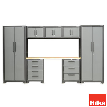 Front facing image of Hilka 8 piece storage on white background
