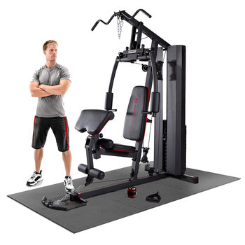 Marcy MKM-81010 90kg (198lbs) Stack Home Gym System with Floor Matting