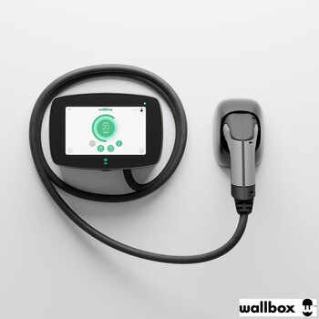 Wallbox Commander 22kW EV Charger with Type 2 Cable (5m), Powerboost and Cable Holder