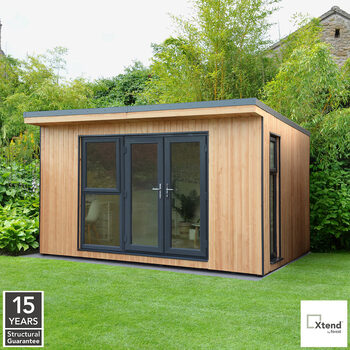 Forest Garden Xtend 4 x 3m Insulated Garden Office