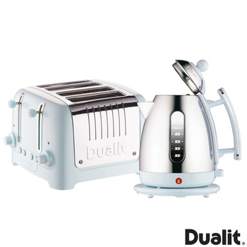 Dualit Lite Kettle and 4-Slot Toaster Set in Ice Blue