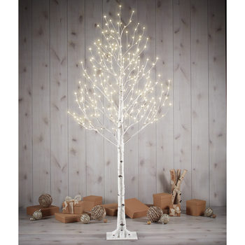 7ft (2.13m)  LED Faux Birch Twig Tree