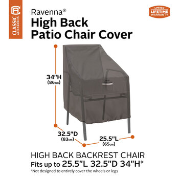 Classic Accessories Ravenna High Back Chair Cover