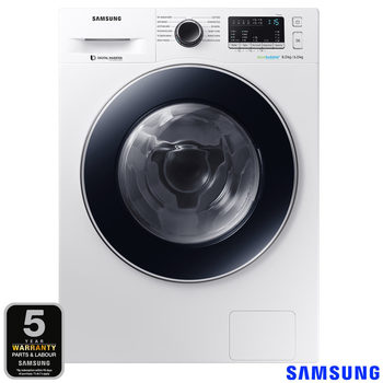 Samsung WD80M4B53JW/EU, 8kg/6kg, 1400rpm EcoBubble Washer Dryer B Rating in White