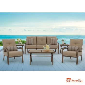 Pacific Casual Danbury 6 Piece Deep Seating Patio Set