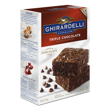 Ghirardelli Triple Chocolate Brownie Mix, 4 Batches