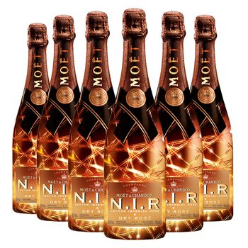 Moët & Chandon N.I.R Nectar Imperial Dry Rosé Champagne, 6 x 75cl
