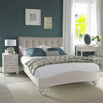 Bentley Designs Montreux Soft Grey Upholstered Bedstead in 2 Sizes