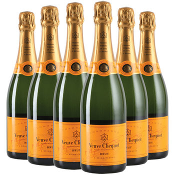 Veuve Clicquot Yellow Label NV Champagne, 6 x 75cl