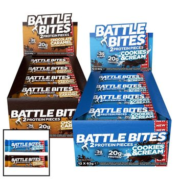 Battle Bites Protein Pieces, 24 x 62g in 5 Flavours
