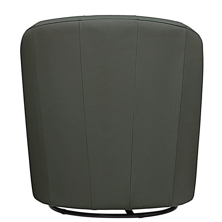 Natuzzi Grey Leather Swivel Accent Chair Costco Uk