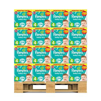Pampers Baby Dry Nappies Size 4, 36 x Monthly 174 Pack