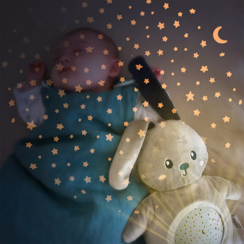 Pabobo Stars  Night Light Projector Rabbit Plush With Music PB1200 (0+ Months)