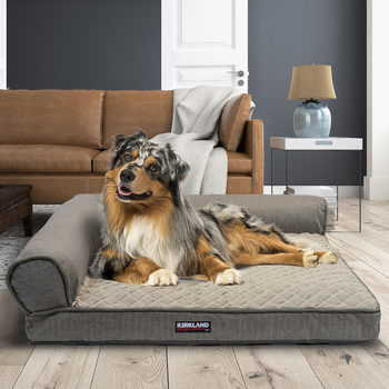 "Kirkland Signature 36"" x 42"" (91.4 x 106.7 cm) Memory Foam Bolster Pet Bed in 2 Designs"