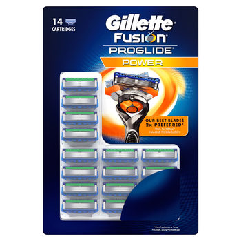 Gillette Fusion ProGlide Power Razor Blades, 14 Pack