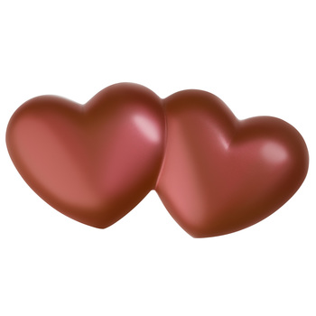 Cocoba Belgian Milk Chocolate Large Double Heart, 10 x 150g
