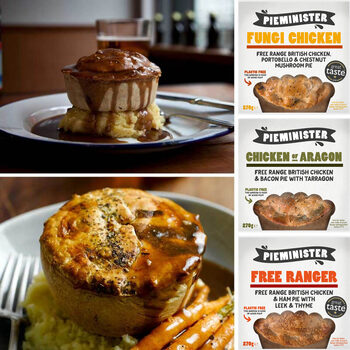 Pieminister Free Range British Chicken Pie Selection, 12 x 270g (Serves 12 people)