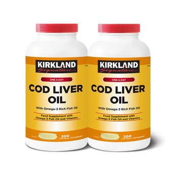 Kirkland Signature Cod Liver Oil + Omega 3 1150mg, 2 x 200 Count