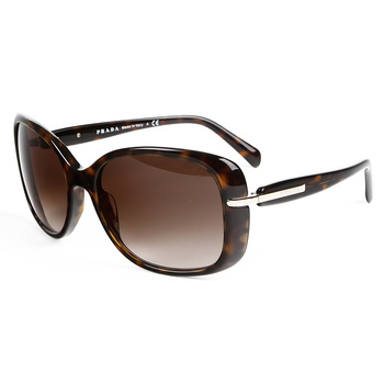 Prada Tortoise Shell Sunglasses with Brown Lenses, SPR 080 2AU-6S1