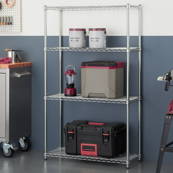 "TRINITY 36"" (91cm) EcoStorage™ 4-Tier Chrome Storage Unit"