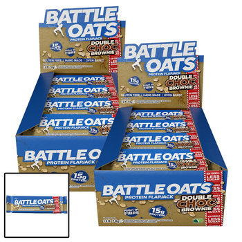 Battle Oats Double Chocolate Brownie Protein Flapjack Bars, 24 x 70g