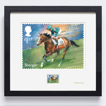 Racehorse Legends Shergar Framed & Signed Royal Mail® Collectable Stamp - Shergar Stamp and Print