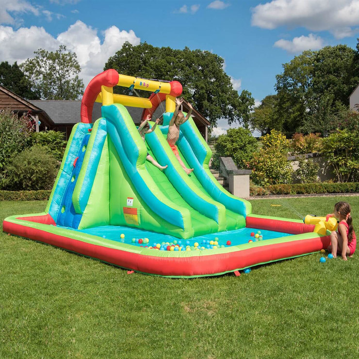 "Inflatable Pool Slide Uk: BeBop 13ft 8"" Neptune Tower Water Slide (3-10 Years"