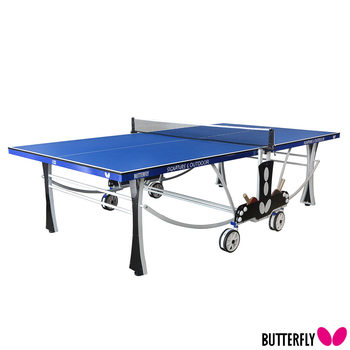 Butterfly Signature 6 Outdoor Table Tennis Table with 2 Bats, 3 Balls and Cover