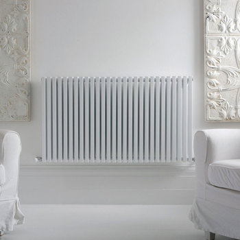 Lifestyle image of the radiator in living room setting