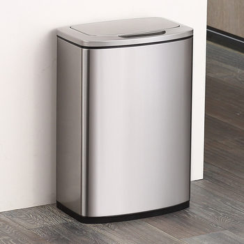 EKO 47 Litre Stainless Steel Motion Sensor Waste Bin with Polypropylene Inner Liner