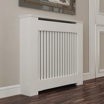 Empire Radiator Cabinet with Vertical Slats (80 x 90 x 18cm)