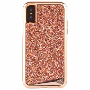 Case-Mate Brilliance Tough Case for iPhone X in Rose Gold