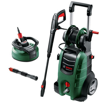 Bosch Advanced Aquatak 140 Pressure Washer with AquaSurf 280 Multi Surface Patio Cleaner