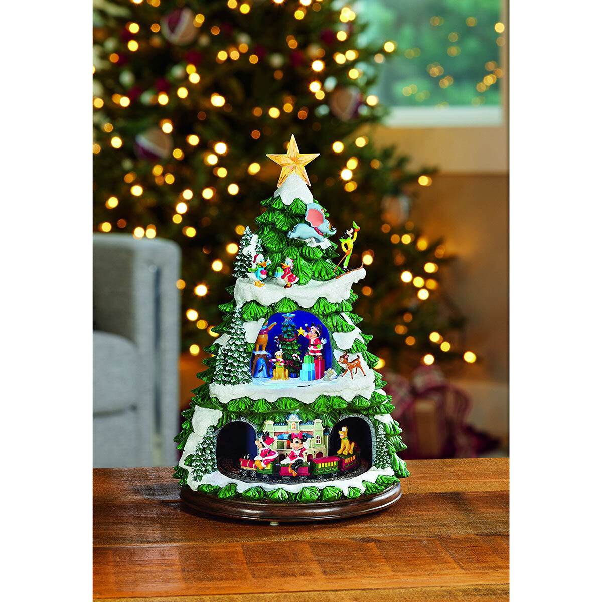 17 5 Inch 44 5 Cm Disney Animated Christmas Tree With Led Lights And Music Costco Uk