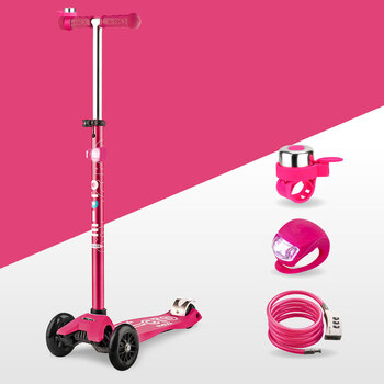 Micro Maxi Scooter Deluxe Gift Set Bundle in Pink (5+ Years)