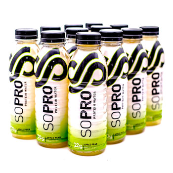 SoPro Apple Pear Protein Water, 12 x 500ml