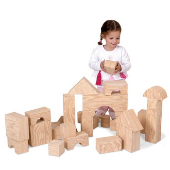 Edushape Big Wood-Like Block Building Set (1+ Years)
