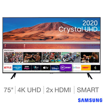 Samsung UE75TU7100KXXU 75 Inch 4K Ultra HD Smart TV